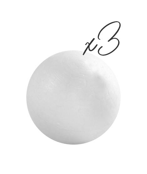 Lot de 3 Boules - 5/7 cm-Objets 3D