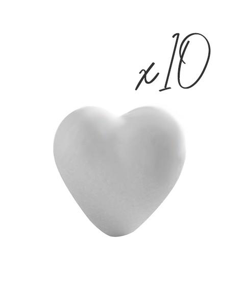 Lot de 10 Coeurs - 8/11 cm-Objets 3D