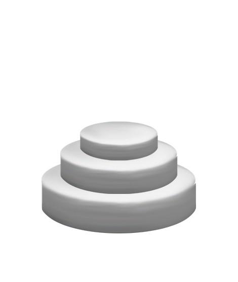 Pièce Montée à Socles Ronds - ⌀15 cm, 20 cm & 25 cm-Socles et formes