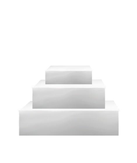 Pièce Montée à Socles Carrés - 15 cm, 20 cm & 25 cm-Socles et formes