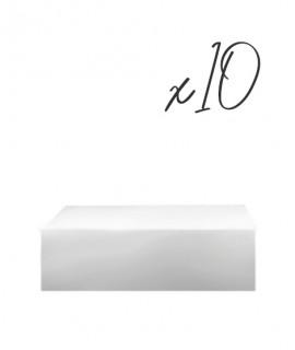 Lot de 10 Socles Carrés - 15/20/25 cm-Socles et formes