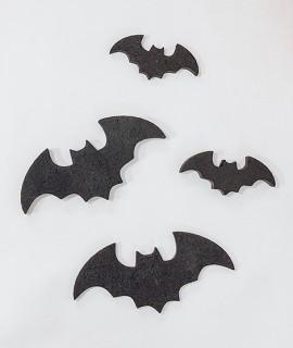 Lot de 4 Chauve-souris en polystyrène-Halloween